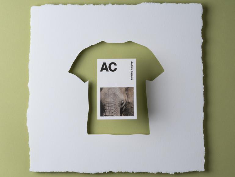 Klassisches Papier Neue Erfunden Moos Cotton Visitenkarten
