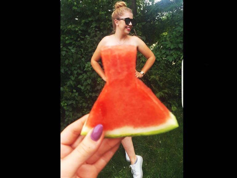 Foto-Basics: Wassermelonen-Kleid