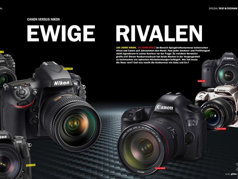 Jetzt neu am Kiosk: DigitalPHOTO 10/17 - mit großem Duell Canon vs. Nikon
