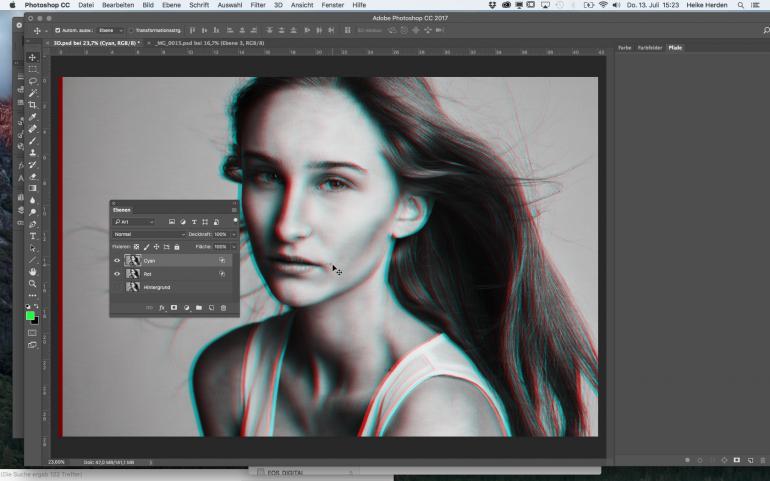 Cooler 3D-Look für Porträts