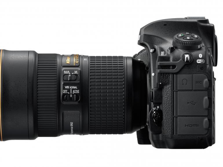 Neben HDMI- und USB 3.0-Anschlüssen ist die Nikon auch Snapbridge-kompatibel.