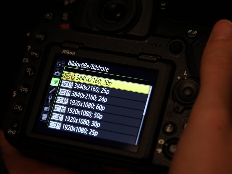Die Nikon D850 erlaubt Videos in 4K-Auflösung.