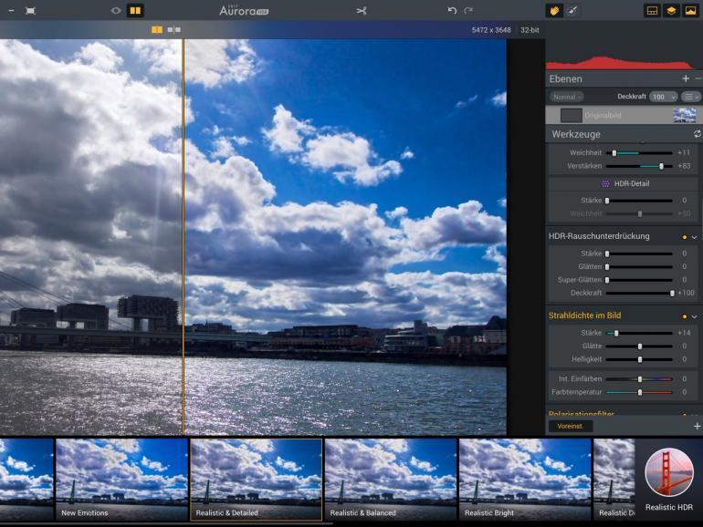 Macphun Aurora HDR 2017: Der Workflow von Aurora HDR überzeugt vom ersten bis zum letzten Schritt.