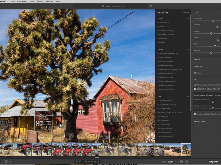 Fotos mit Lightroom CC bearbeiten