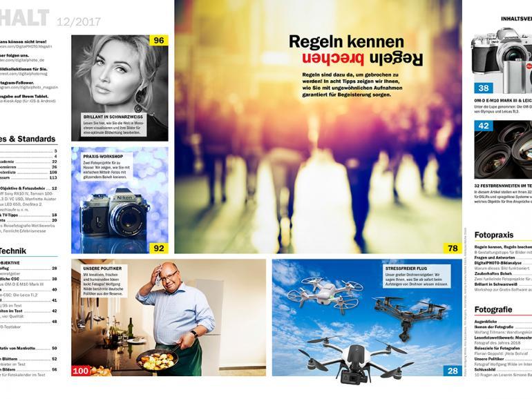 Neu: DigitalPHOTO 12/2017 mit großem Drohnen-Ratgeber