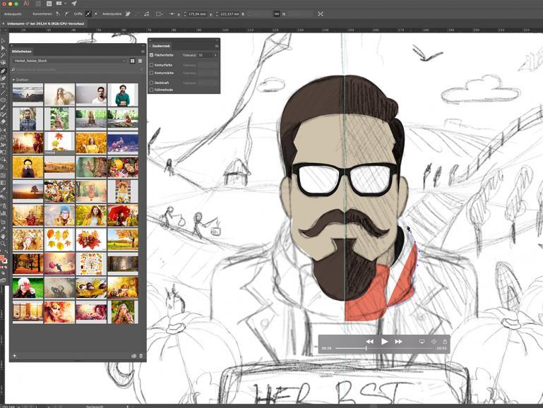 #AdobeStockHerbst17 - fünf Künstler zeigen ihren Workflow