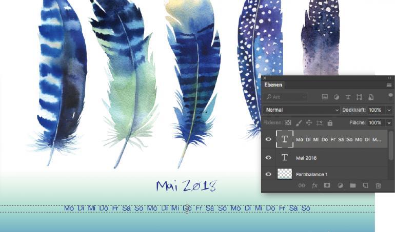 Aquarell-Kalender: Bunt und schlicht durch das Jahr 2018