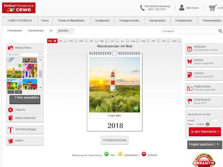 Sechs Fotokalender im Test - Das neue Jahr in Bildern