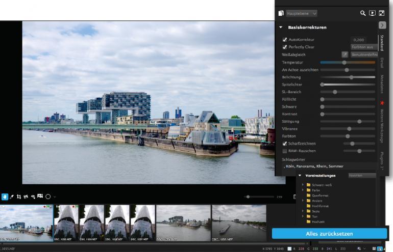 Bildbearbeitung mit Corel AfterShot 3