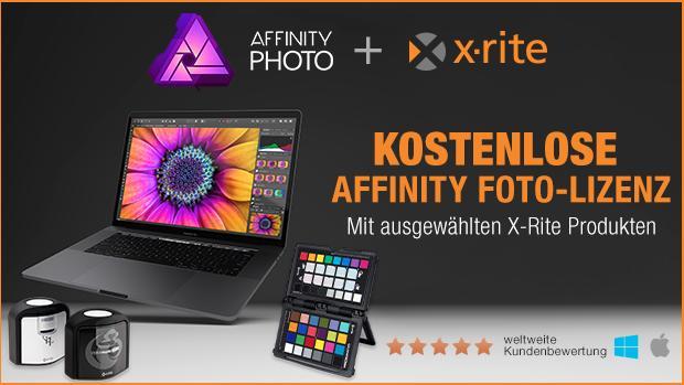 X-Rite Aktion: Gratis Affinity Photo Lizenz beim Kauf eines ausgewählten Produkts