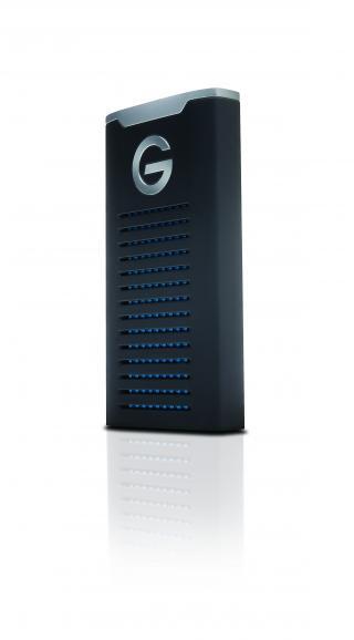 Kompakt und robust: Das handliche Design (3,6 x 10,1 x 15,2cm) macht die G-Drive für jeden Einsatzzweck transportabel.