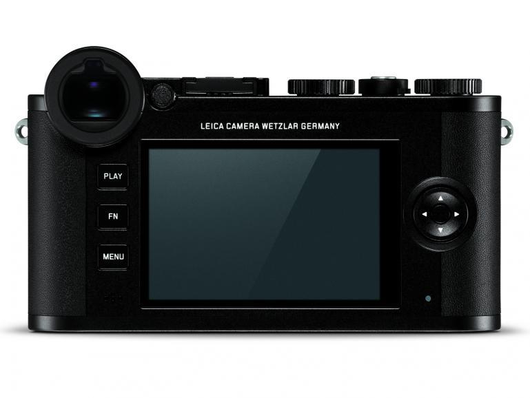 """Viel reduzierter kann eine Kamerarückseite nicht gestaltet sein. Auch mit der CL bleibt sich Leica seinem Leitsatz """"Reduziert auf das Wesentliche"""" treu."""