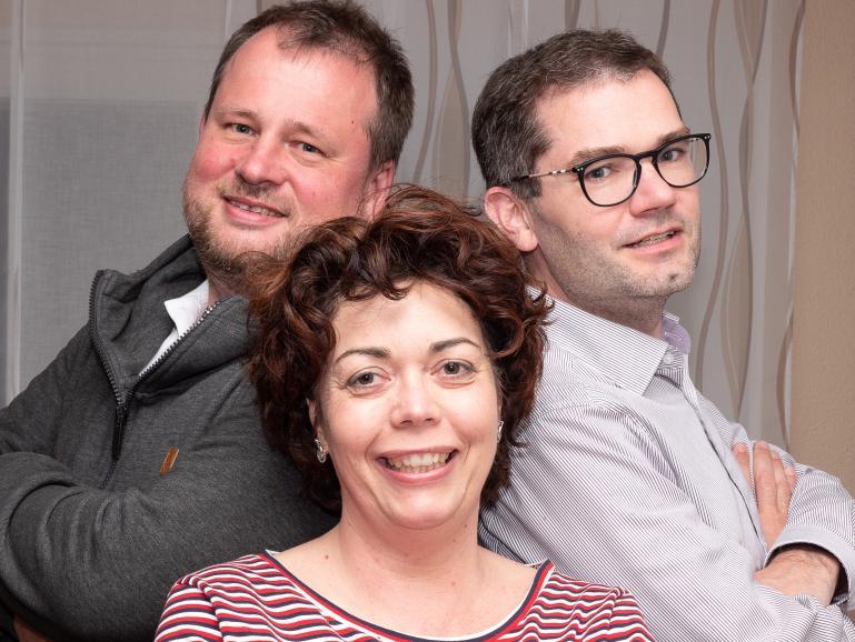Das Organisationsteamdes fotocamp PFORZHEIM: Alex, Christine, Sascha