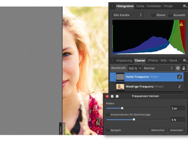 Bildbearbeitung mit Affinity Photo: Porträtretusche