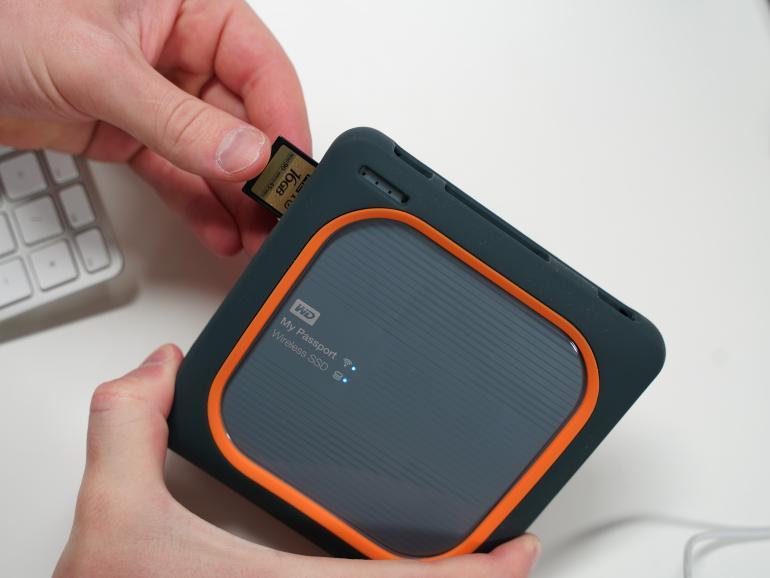 Fotos und Videos von SD-Karte auf SSD sichern