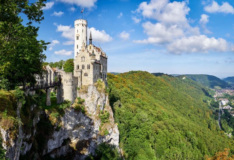 Schloss Lichtenstein nahe dem Naturschutzgebiet Kreuzlingen.