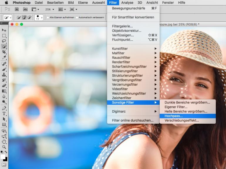 Der Hochpass-Filter in Photoshop - Schärfen sie Ihre Porträts gekonnt nach