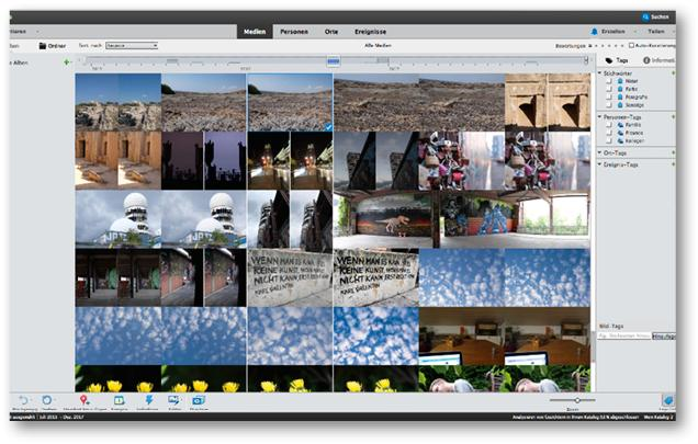 Der Organizer in Photoshop Elements 2018 sorgt zumeist vollautomatisch für Ordnung in der Fotosammlung und ist zentraler Ausgangspunkt für alle Arbeiten.