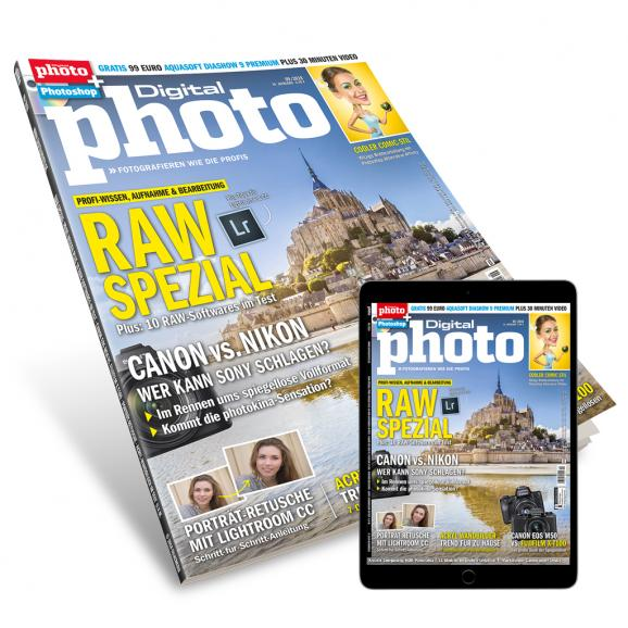 Druckfrisch am Kiosk: DigitalPHOTO 9/2018 mit großem RAW-Spezial!
