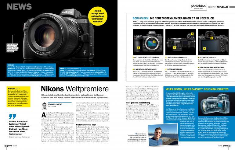 Ab sofort im Handel und als Download: DigitalPHOTO 10/2018 - Nikon präsentiert zwei Vollformat-Systemkameras!