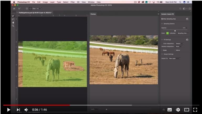 Photoshop CC Vorschau: Inhaltsbasiertes Ausfüllen-Werkzeug