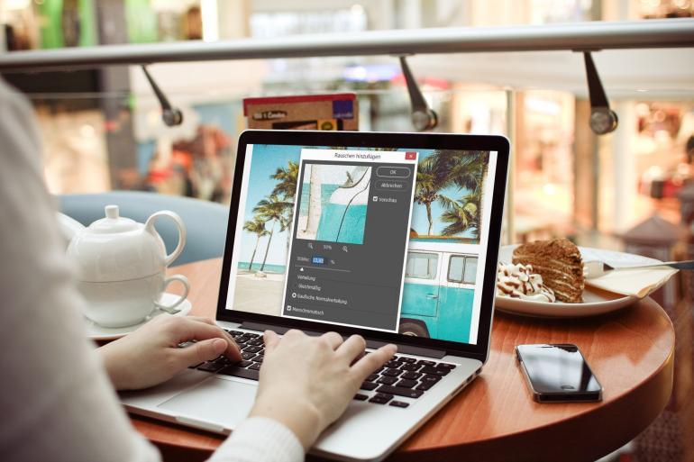 Drei praktische Photoshop-Helfer: Rauschen, Ölfarbe, Versetzen