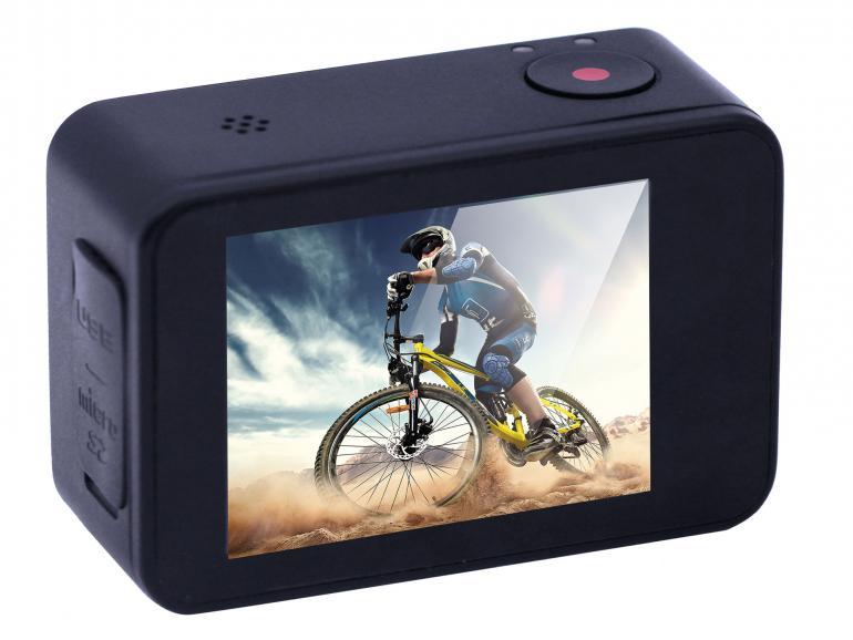 GoXtreme AXIS: Action Cam mit integriertem Gimbal Bildstabilisator