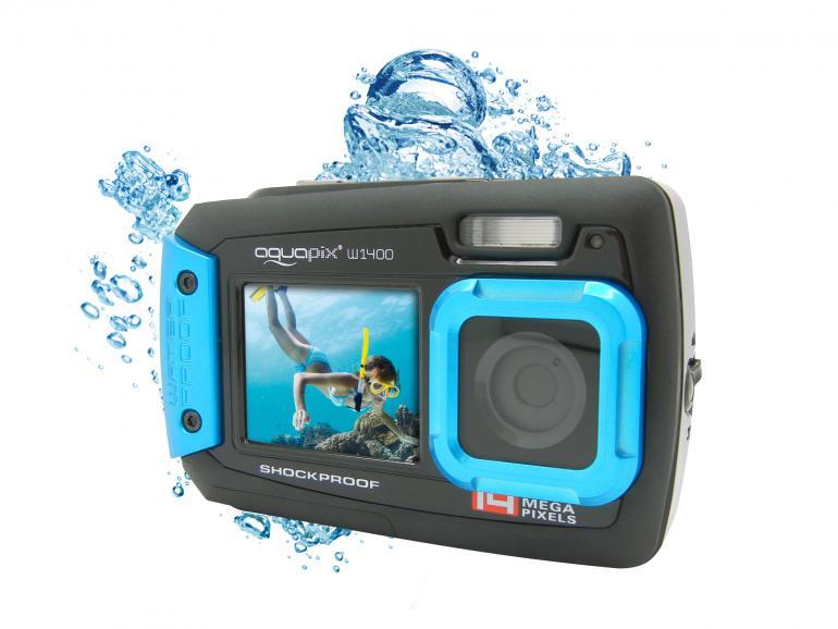 Aquapix W1400 Active - Unterwasser-Kamera mit Dual-Display im Angebot