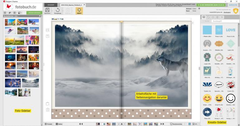 Perfekt präsentiert: Mit Designer 3 erstellen Sie Ihr persönliches Fotobuch intuitiv, schnell und garantiert ohne Gestaltungsfehler.