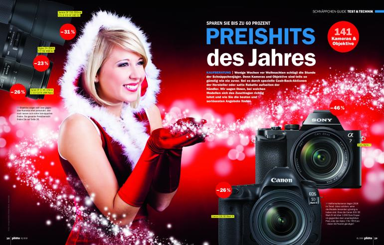 DigitalPHOTO 01/2019 - Sparen Sie vor Weihnachten bis zu 60 Prozent beim Kamera- und Objektivkauf