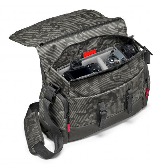 Trotz der kompakten Maße ist in der Manfrotto Noreg Messener-Tasche 30 jede Menge Platz für Ihr Equipment.