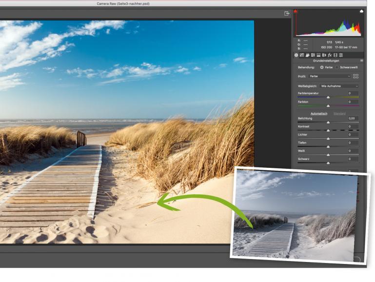 Zu den Anwendungen, die Adobe Camera Raw unterstützen, zählen Photoshop, Photoshop Elements, After Effects und Bridge. Außerdem basiert Adobe Lightroom auf derselben leistungsfähigen RAW-Bildverarbeitungstechnologie.