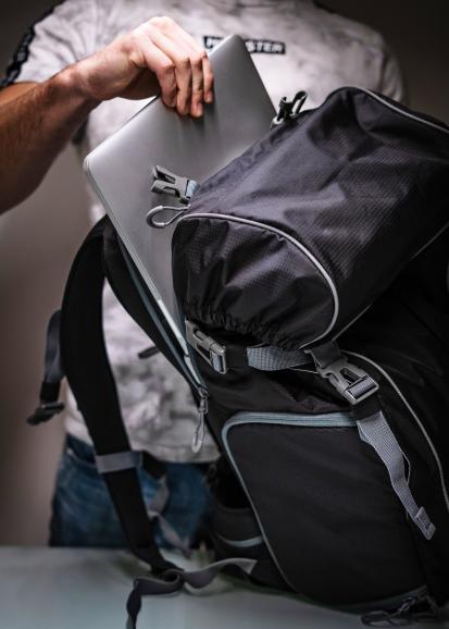 Viel Platz: Der Rucksack von CULLMANN bietet auch Platz für einen Laptop bis 15 Zoll.