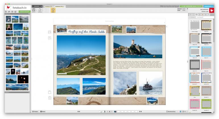 Mit flexiblen Vorlagen zum individuellen Fotobuch