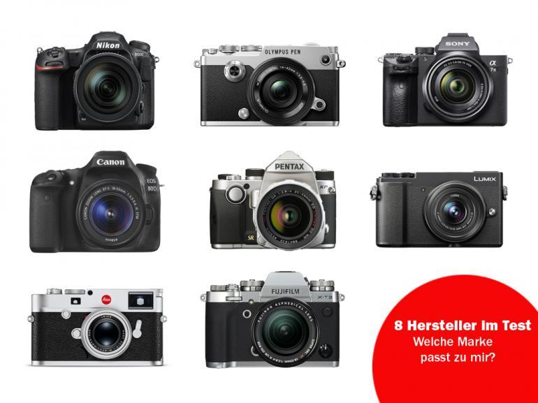 Großer Kamera Vergleich: 8 Mittelklasse-Kameras für Semiprofis
