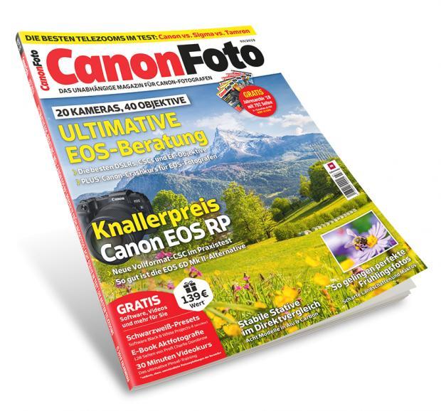 CanonFoto 03/2019 ab sofort erhältlich: 20 aktuelle EOS-Modelle im Vergleich + 40 Objektive