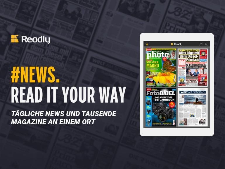 Readly jetzt auch mit Tageszeitungen – zusätzlich zu tausenden Magazinen!