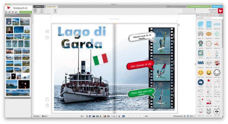 Die größte und flexibelste Auswahl an Stickern für Ihr Fotobuch!