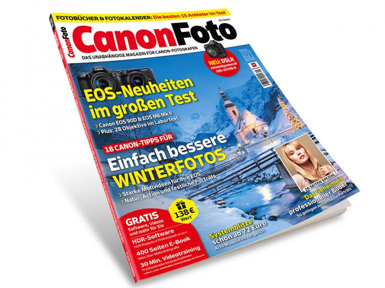 Neu im Handel: CanonFoto 01/20 - EOS 90D & M6 Mark II im Test