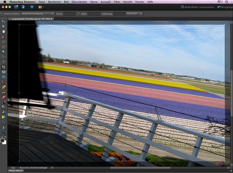 Photoshop Elements 9: Bildausschnitt & Ausrichtung