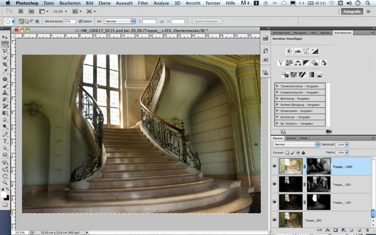 Exposure Blending in Photoshop