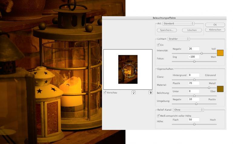 Photoshop: Brennende Kerzenflamme erzeugen