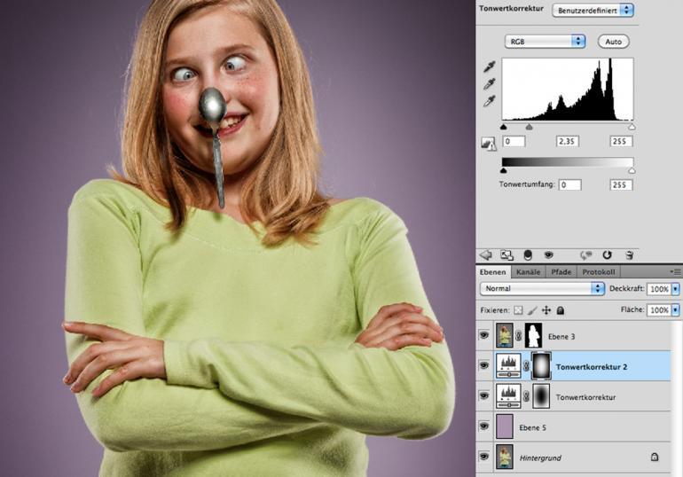 Photoshop: Humorvoller Look per Kontrastoptimierung
