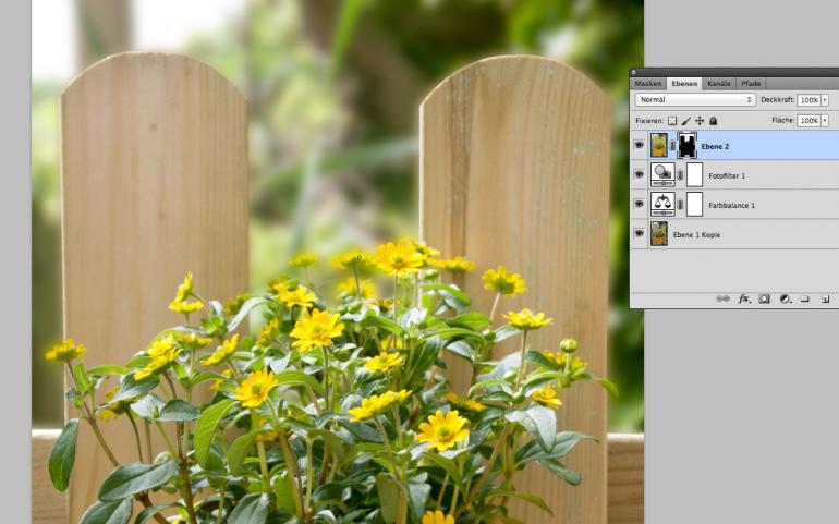 Photoshop: Gartenbildern den letzten Schliff geben