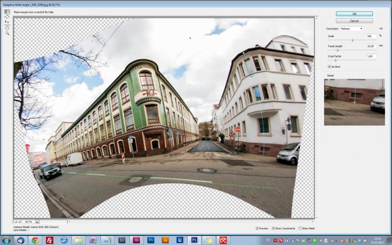 Photoshop CS6: Adaptive Weitwinkel-Korrektur