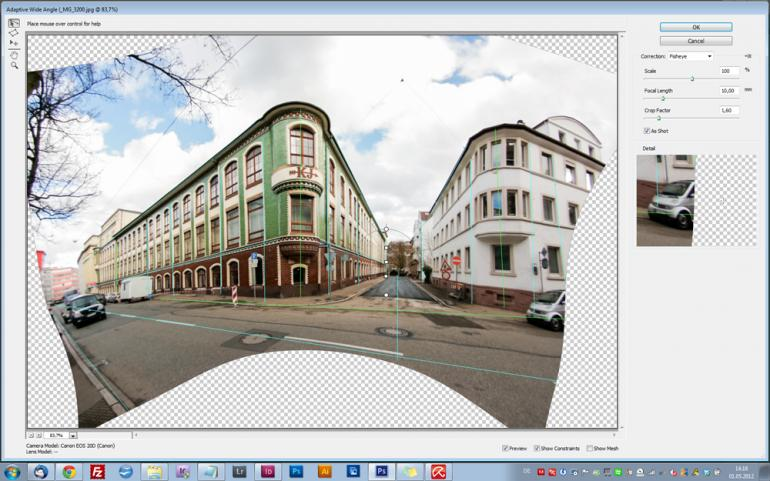 Photoshop CS6: Adaptive Weitwinkel-Korrektur