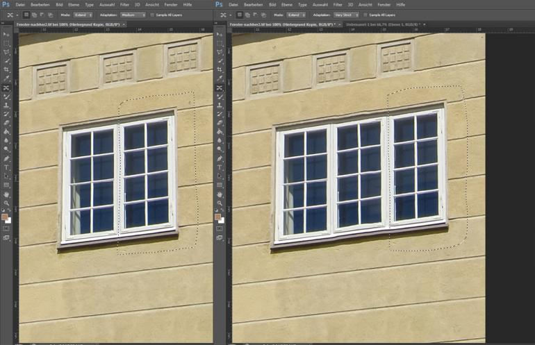 Photoshop CS6: Inhaltsbasierte Retuschen