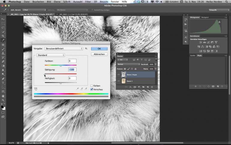 Photoshop: Stilvoller Color-Key-Effekt