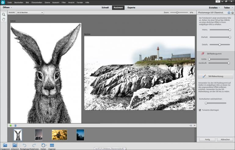 Bildstile mit Photoshop Elements kombinieren