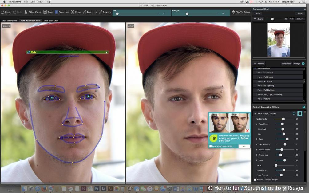Retusche Software Portrait Professional Particleshop Sharpen4web
